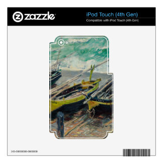 Three Fishing Boats by Claude Monet Skin For iPod Touch 4G
