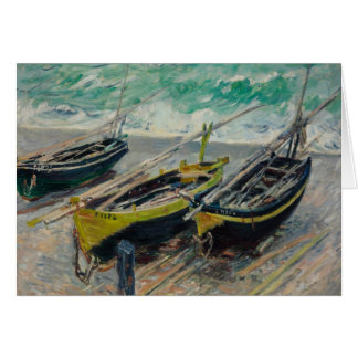 Three Fishing Boats by Claude Monet Stationery Note Card