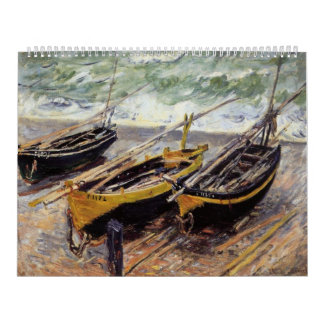 Three Fishing Boats Calendar