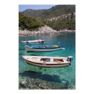 Three Fishing Boats Poster