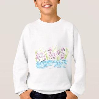 Three Flamingos Sweatshirt