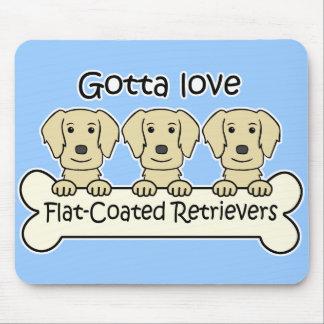 Three Flat-Coated Retrievers Mouse Pad