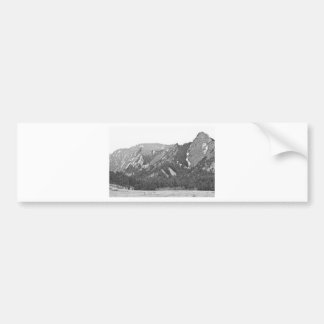 Three Flatirons Boulder Colorado Black and White Bumper Sticker