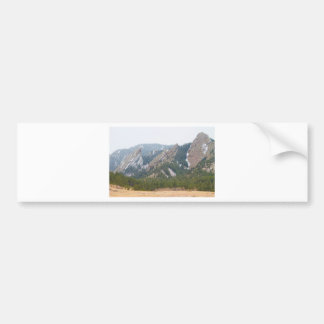 Three Flatirons Boulder Colorado Bumper Sticker