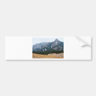 Three Flatirons Boulder Colorado Winter View Bumper Sticker