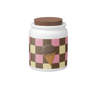 Three-Flavor Ice Cream Cone Candy Jar Customizable