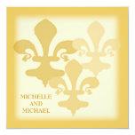 Three Fleur de Lis Golden Impressions Card