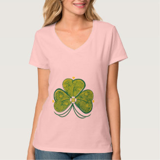 Three Floral Leaf Clover T-Shirt
