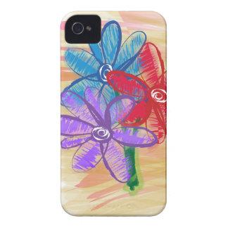 Three Flower Doodle Case-Mate iPhone 4 Case