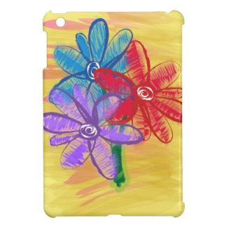 Three Flower Doodle iPad Mini Cover