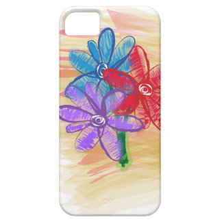 Three Flower Doodle iPhone SE/5/5s Case