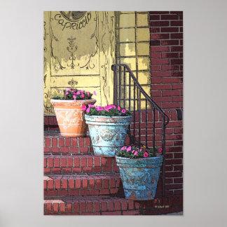 Three Flower Pots Posters