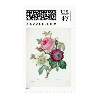 Three Flower Vintage Postage Stamp
