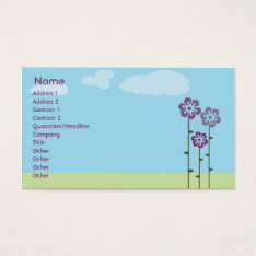 Three Flowers - Business Business Card at Zazzle