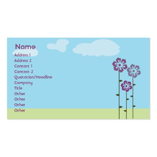 Three Flowers - Business Business Cards
