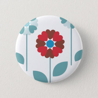 three flowers button