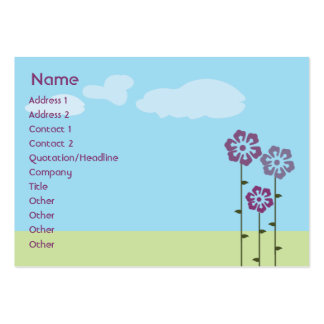 Three Flowers - Chubby Business Card Template