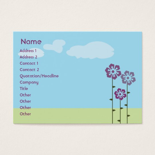 Three Flowers - Chubby Business Card