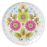 Three Flowers Party Plates