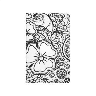 Three Flowers Zendoodle 062514, Pocket Journal