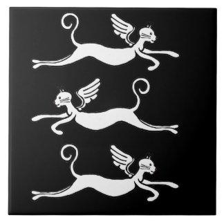 three flying cats ceramic tile