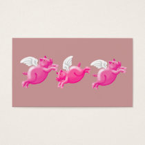 three flying pigs business card