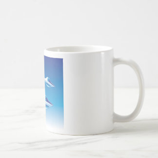Three Flying Unidentified Objects in the sky Coffee Mug