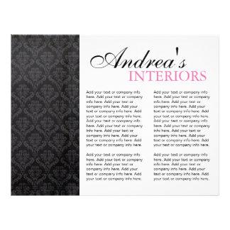 """Three Fold Interior Designer Brochure 8.5"""" X 11"""" Flyer"""