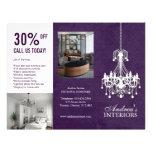 Three Fold Interior Designer Brochure Personalized Flyer