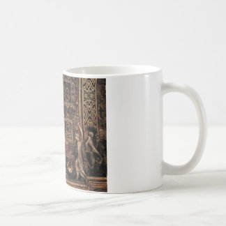 Three Foolish Virgins Flanked Adam and Eve Coffee Mug