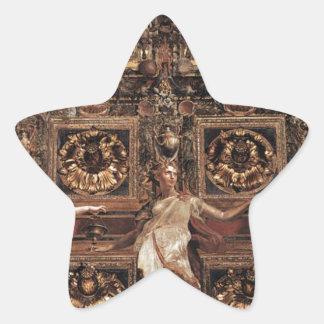 Three Foolish Virgins Flanked Adam and Eve Star Sticker