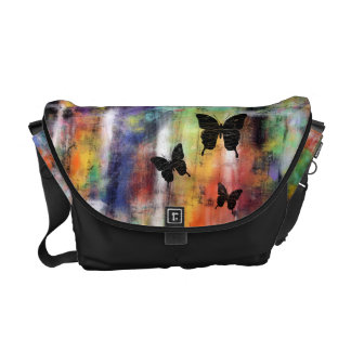 Three Free Butterflies Messenger Bag