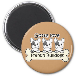 Three French Bulldog Magnet