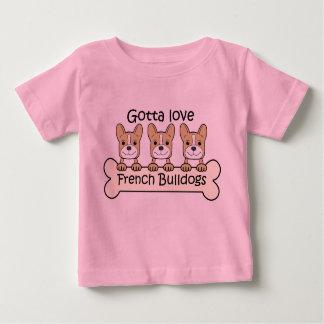 Three French Bulldogs T-shirt