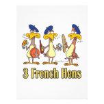 three french hens 3rd third day of christmas custom invite