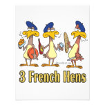 three french hens 3rd third day of christmas personalized announcement