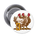 Three French Hens Button