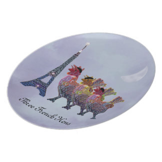 Three French Hens Decorative Plate