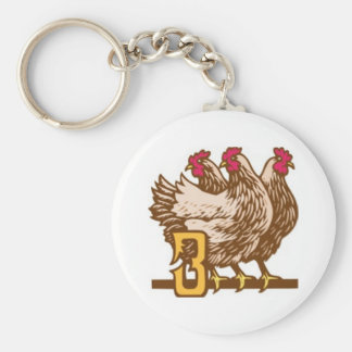 Three French Hens Keychain