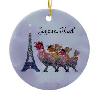 Three French Hens Ornament ornament