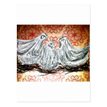 Three French Hens Postcard