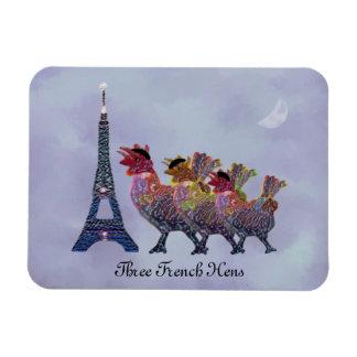 Three French Hens Premium Magnet