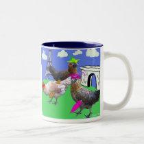 Three French Hens Two-Tone Coffee Mug