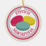 Three French Macarons Ornament