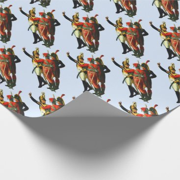 three French soldiers circa 1800 print Wrapping Paper