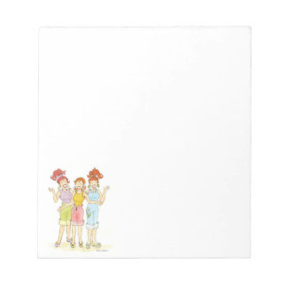 Three friends forever note pad
