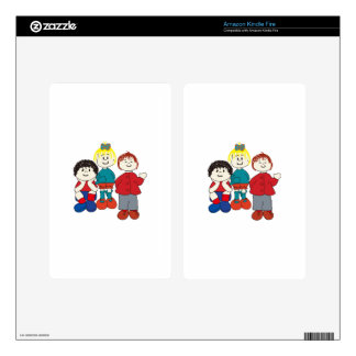 Three Friends Kindle Fire Decal