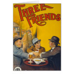 Three Friends Movie Poster Greeting Cards