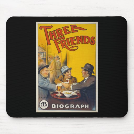 Three Friends Movie Poster Mouse Pad