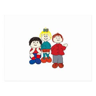 Three Friends Postcard